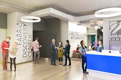 architect's rendering of the new Fabric Discovery Center
