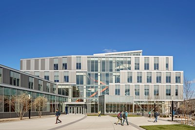 The Pulichino Tong Business Building won a Lowell sustainability award