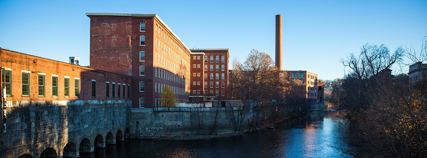 Lowell encompasses an integrated canal system whose inception in the early 1820s helped Lowell become a center for textile mill production.