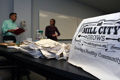 Mill City Grows board members deliberate