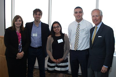 Dean Richtermeyer with Manning School students and COSO chair