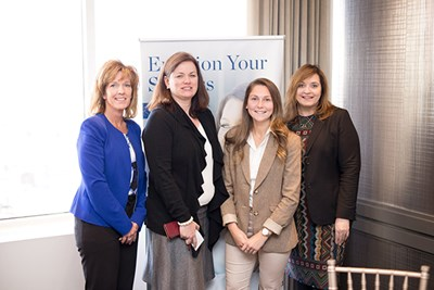 Women's Accounting Leadership Series attendees from UMass Lowell pose for a photo