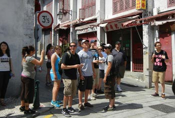 UMass Lowell and University of Macau students explored the old town together.