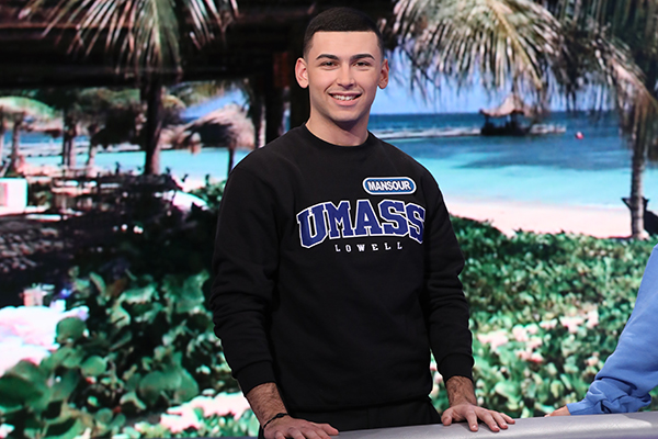"Honors political science student Monsour Chaya came from behind to win ""Wheel of Fortune."""