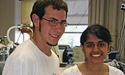 Mark Lalli, left, and Neha Manohar.