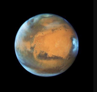 Hubble Space Telescope photo of Mars