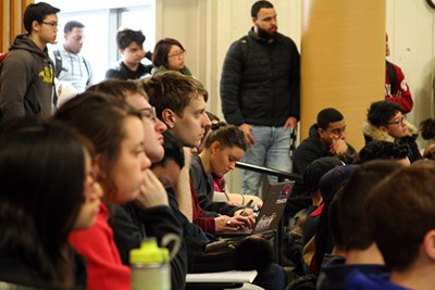 Students listen to Gina McCarthy at O'Leary