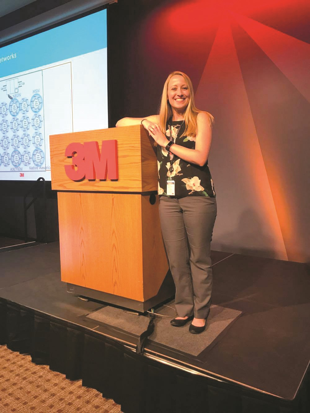 UMass Lowell Senior chemical engineering major Mikayla Essigmann, manufacturing technology process engineering intern at 3M in St. Paul, Minn.