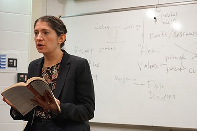 Asst. Prof. Maia Gil'Adi is the first professor of Latinx literature and culture at UMass Lowell