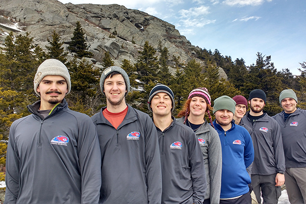 Participants on OAP mountain hiking trip