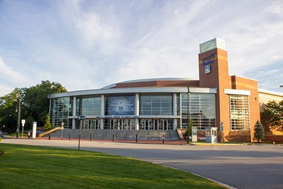 A view of the Tsongas Center at UMass Lowell