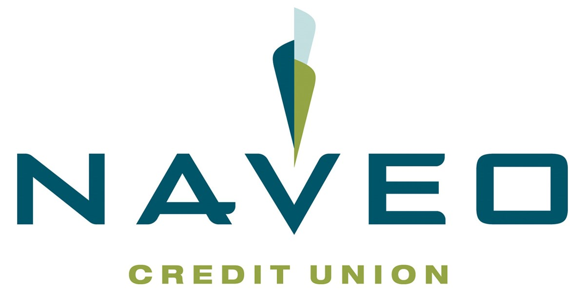 "Naveo Credit Union logo. Naveo is a local not-for-profit community financial institution focused on serving its members/owners. Our mission is to assist our members with their financial needs by providing them with products and services they need in a friendly, inviting environment. As stated in our motto of ""Saving Together to Lend to Each Other,"" we take member deposits and in-turn, lend to those who need to borrow."