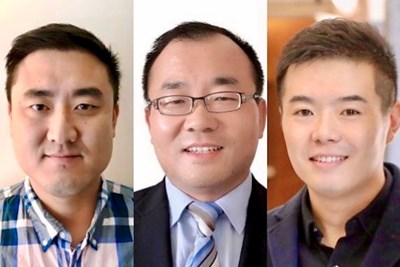 New business faculty members JM Song, James Zheng and Lei Jia