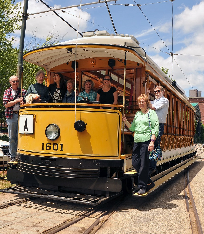 LIRA Members aboard the Lowell Trolley