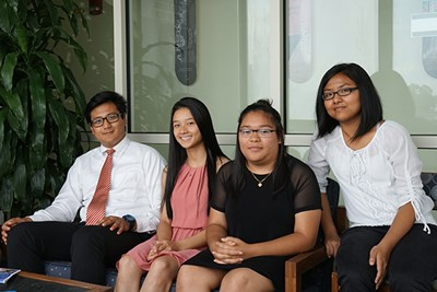 Four of the 12 Nisei Student Relocation Commemorative Fund scholars coming to UMass Lowell in fall 2017