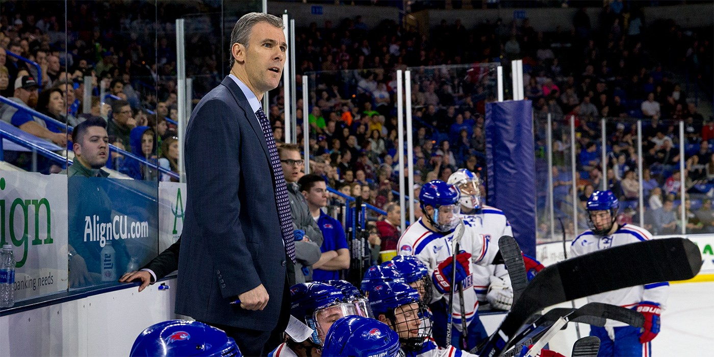 Normand M. Bazin is the current head coach of the University of Massachusetts Lowell River Hawks men's ice hockey team. In 2013 he led the team to their first Hockey East Championship and their first appearance in the Frozen Four. Contents.