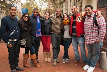 UMass Lowell students traveled to Philadelphia for a cultural immersion trip with the Office of Multicultural Affairs. Photo by Liron Asher.
