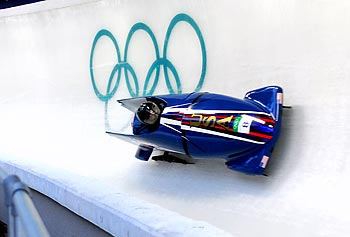 The bobsled is a popular outdoor sliding competition during the Winter Olympic Games.
