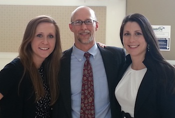 Sarah Strickland, Stephen Kellett and Sarah Coulombe worked with Lowell General Hospital to assess community health needs.