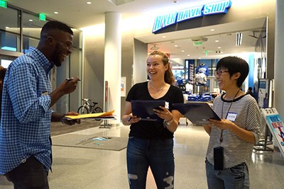 Pair-Up participants do a scavenger hunt at UCrossing