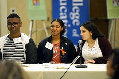 High school students take part in panel discussion