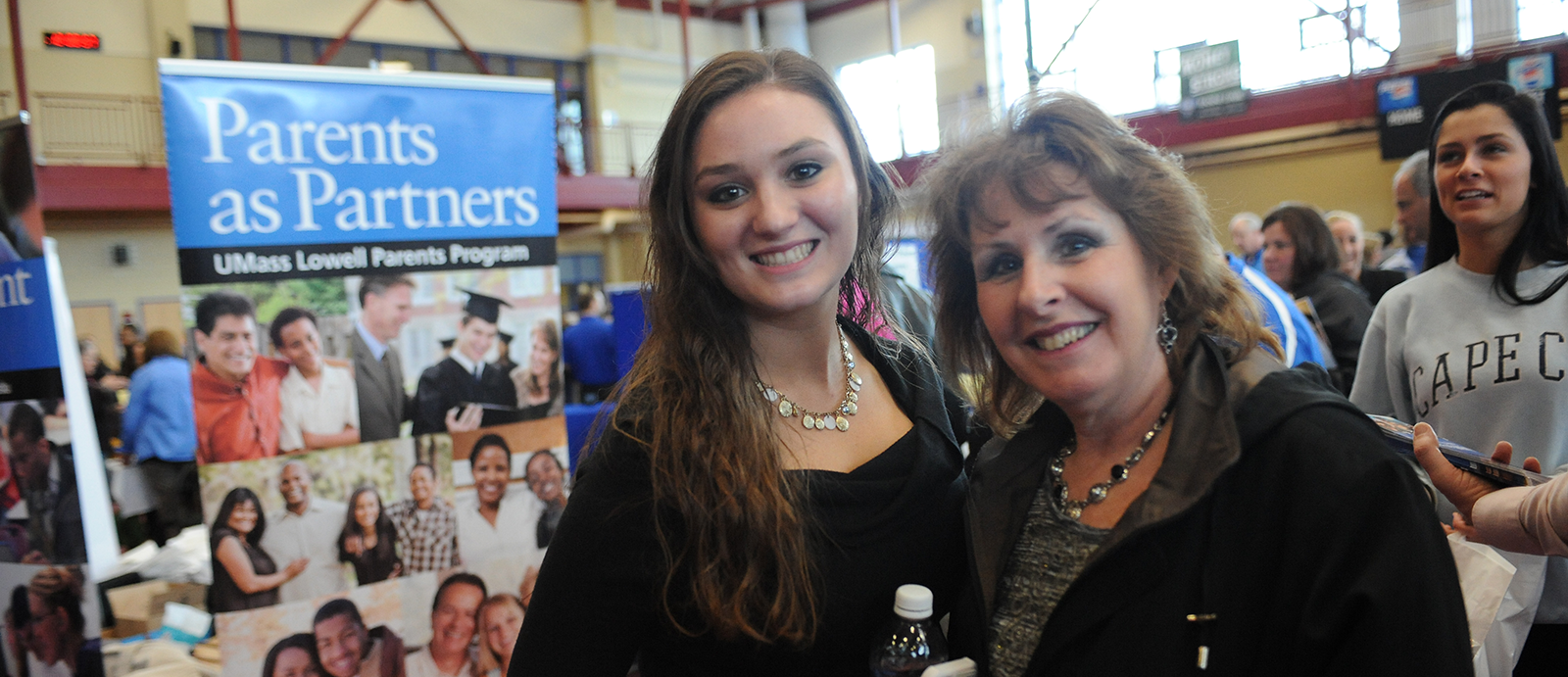 Mom and daughter at UMass Lowell orientation