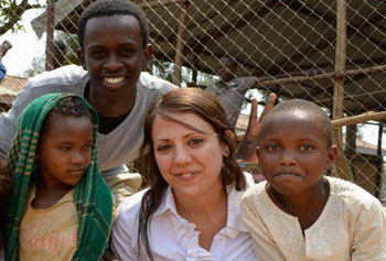 Students in the program take a world view, like Vanessa Colomba, who learned about a Rwandan organization for young survivors of the genocide.