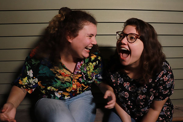 "Annie Walsh, left, and Melina Leon star in the new, student-produced web TV comedy series, ""Pen and Jo."""