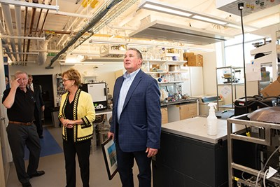LEWA COO Mark Dyment tours the Massachusetts BioManufacturing Center
