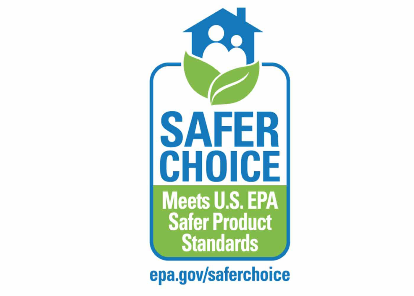 "Purchasing-Cleaning and Janitorial Supplies-Safer Choice: the logo for the United States' Environmental Protection Agency's Safer Choice label features a house with two individuals in it at the top of the icon (and said house is surrounded by two green leaves). Below, the words ""Safer Choice: Meets U.S. EPA Safer Product Standards"" reads. Also, a link to the EPA's Safer Choice webpage is included within this logo."