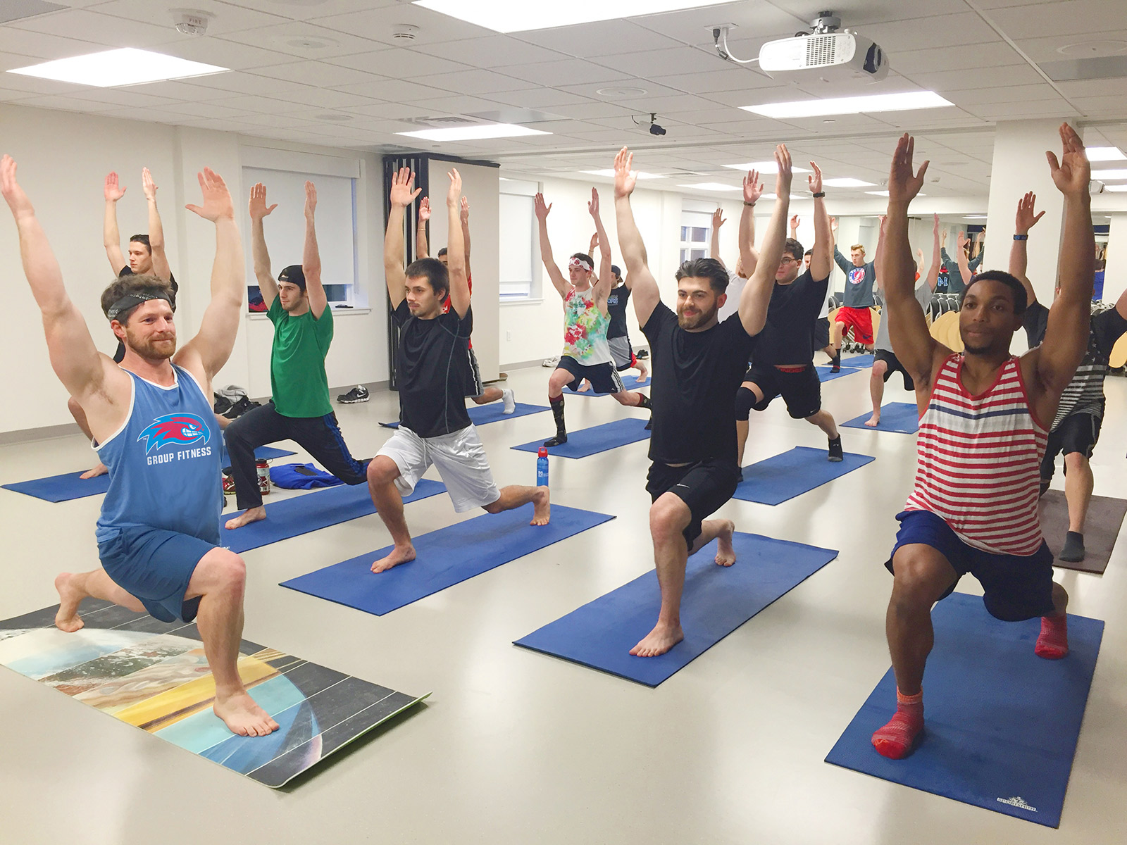 Yoga class in Riverview Fitness Center