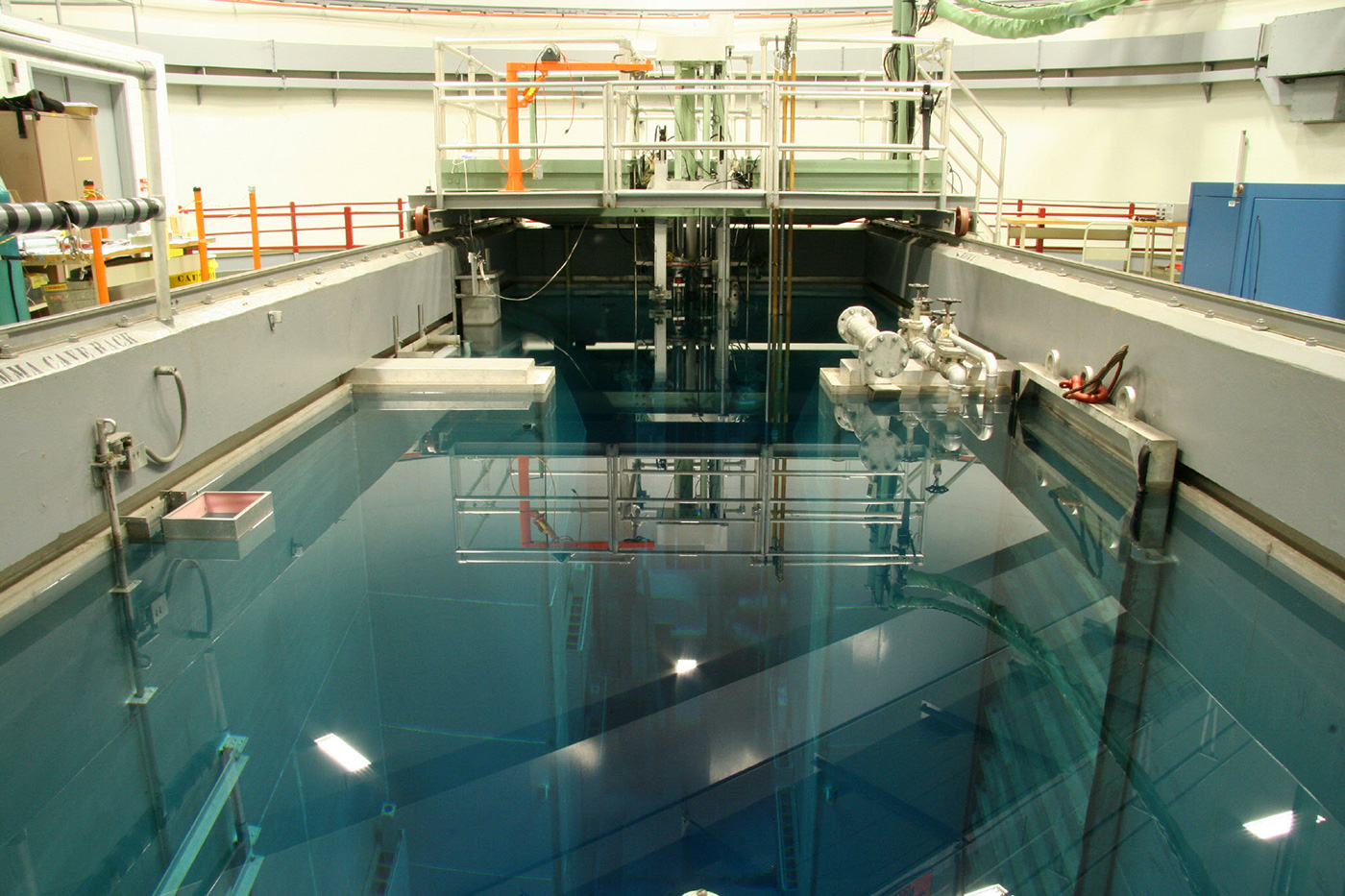 Image of the reactor pool. The Radiological Sciences Program at the University of Massachusetts Lowell offers a Bachelor of Science degree in Physics (Radiological Health Physics option), a Master of Science degree in Radiological Sciences and Protection, and a Doctor of Philosophy degree in Physics (Radiological Sciences option).