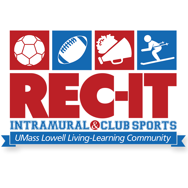 REC-IT: Intramural & Club Sports LLC graphic. The REC-IT: Intramural & Club Sports Living-Learning Community incorporates the elements of Campus Recreation, Intramural and Club Sports involvement along with promoting the physical health of its' members. This living and learning experience is inclusive, fun and motivational, and is designed for First-year students. This LLC is designed to provide students with proactive ways to get engaged, build community and leadership skills, manage stress, and maintain physical activity through social and educational community-based programming.
