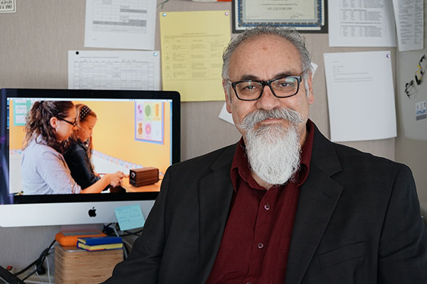 "UMass Lowell Assoc. Prof. Richard Serna, in collaboration with UMass Medical School Assoc. Prof. Charles Hamad, is developing a ""virtual child"" that can be used to train professionals to work with children with autism spectrum disorder."