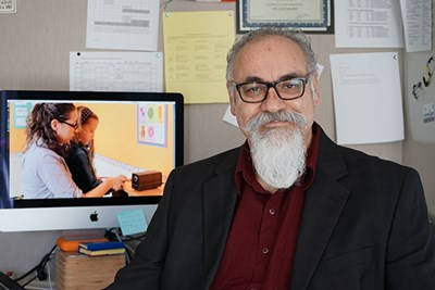 Assoc. Prof. Richard Serna develops software training tools for people with autism spectrum disorder and professionals.