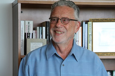 History Prof. Robert Forrant gets the news that he's the 2016 University Professor.