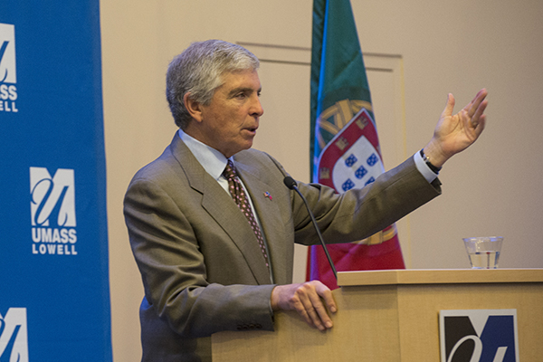 U.S. Ambassador to Portugal Robert Sherman speaks at University Crossing