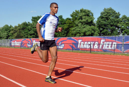Alumni and staff member Ruben Sanca will run the 5,000-meter race for his native Cape Verde in the 2012 Olympics. Photo courtesy of UMass Lowell Athletics.