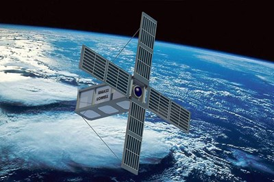 SPACE HAUC-1 satellite in orbit