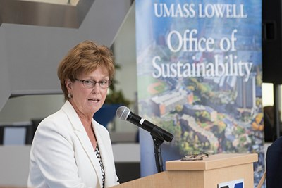 Chancellor Jacquie Moloney at the state LEED event