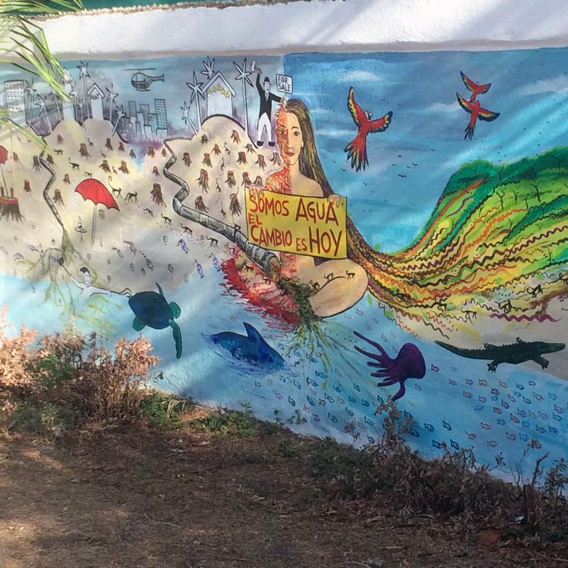 Mural in San Jose, Costa Rica. From student blog post: The thing about San José is that it truly feels alive. In the literal sense, the national parks, which cover the entire city, capture the natural beauty and biodiversity of Costa Rica.