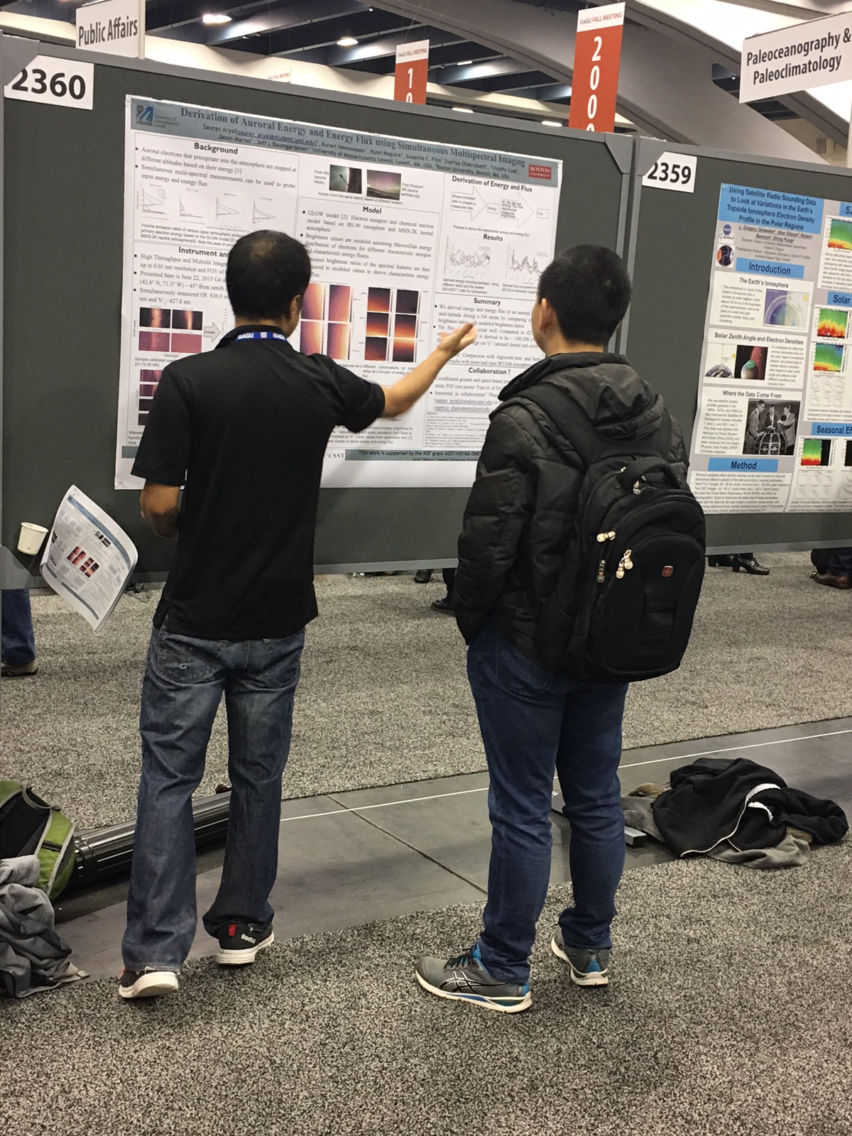 Poster presentation: Derivation of Auroral Energy and Energy Flux using Simultaneous Multispectral Imaging, Saurav Aryal, Kuravi Hewawasam, Ryan Maguire, Susanna C. Finn, Timothy Cook, Jason Martel, Jeffrey L. Baumgardner and Supriya Chakrabart.