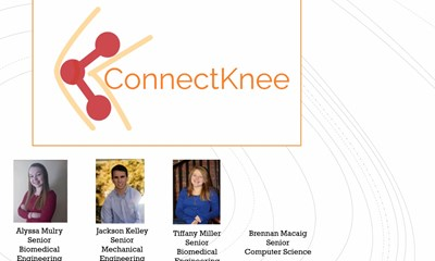 The ConnectKnee team topped a field of 17 to take home top honors at the recent DifferenceMaker/Francis College of Engineering competition.