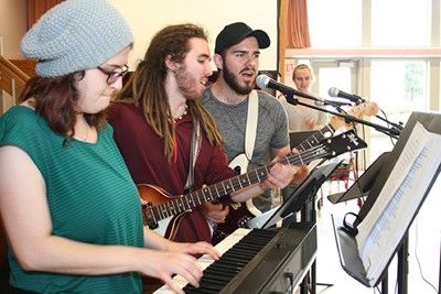 Music students perform at senior center