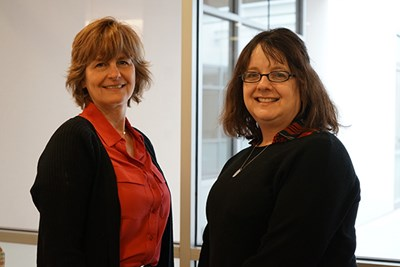 Assoc. Prof. Melissa Morabito, right, and Prof. April Pattavina research why so few rape and sexual assault cases end in arrest and prosecution.