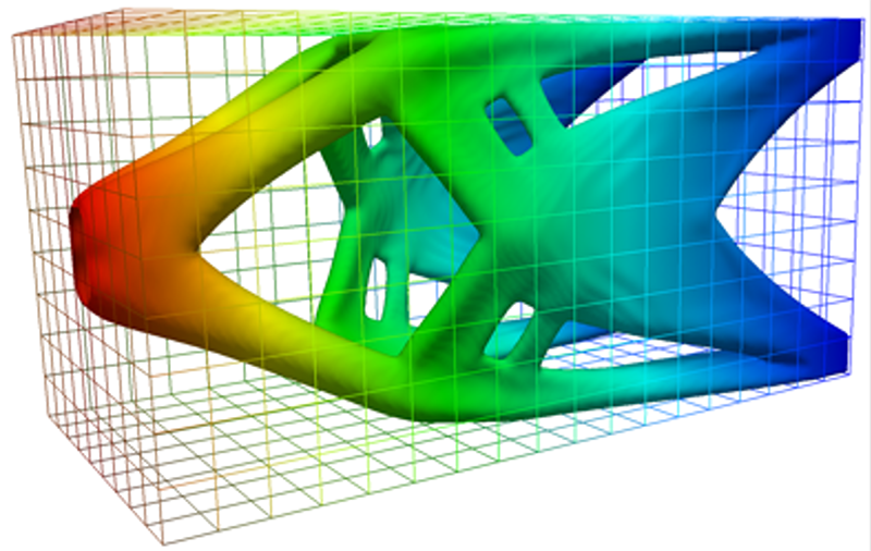 Computer illustration of a 3D design component