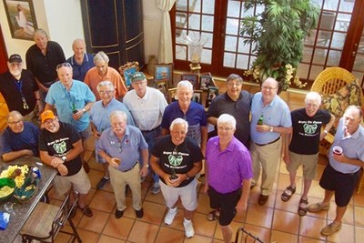 Members of Sigma Phi Omicron at a reunion in Florida.