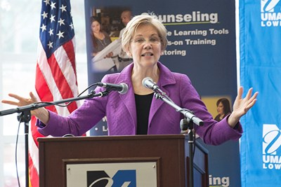 Sen. Elizabeth Warren speaks at Business Matchmaker event