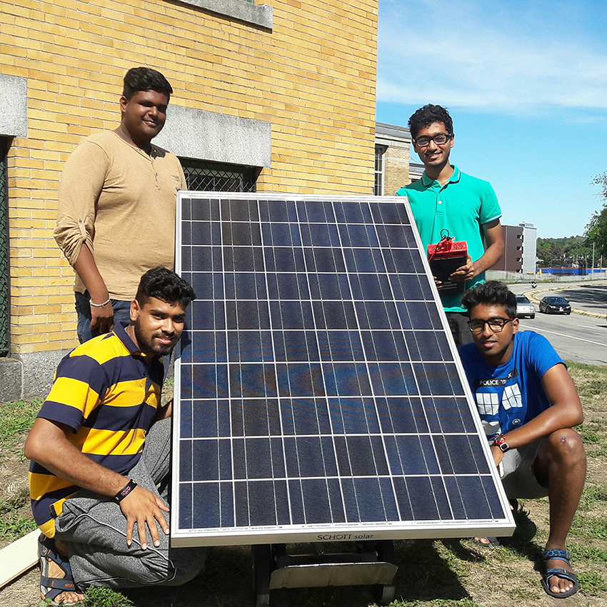 Students with Solar Panel