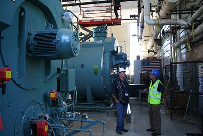 New boilers in the South Campus steam plant